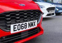New car number plate 68-plate registration