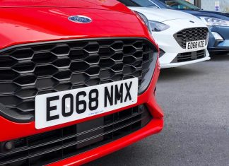 New car number plate 68-plate registration