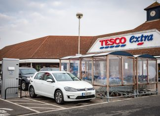 Tesco electric vehicle charging point