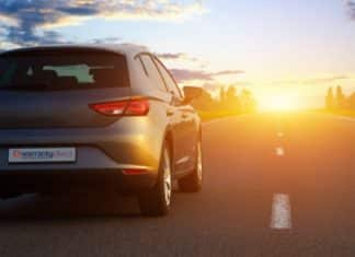 Warranty Direct car driving off into the sunset