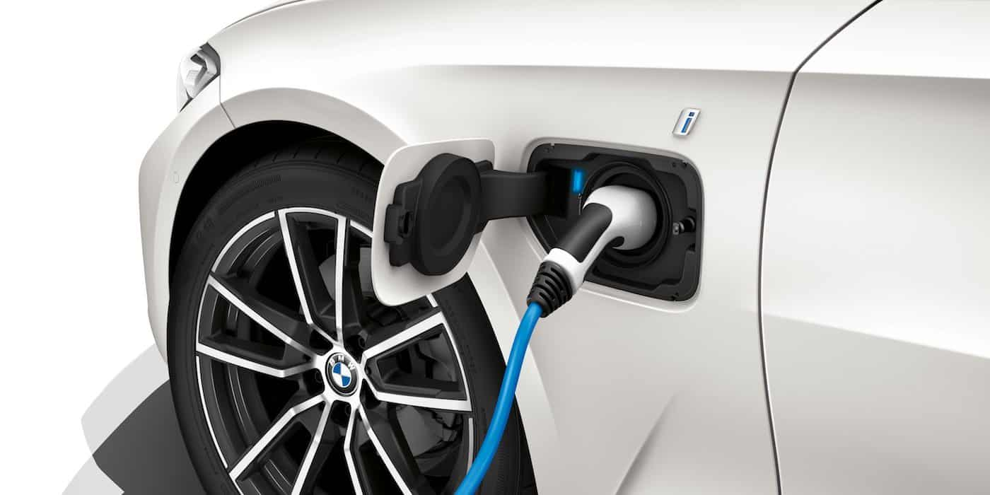BMW 330e charging plug