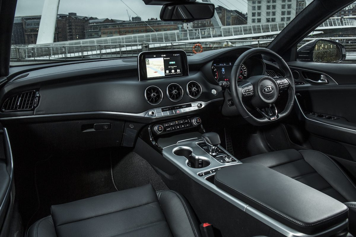 Kia Stinger GT-Line interior and dashboard