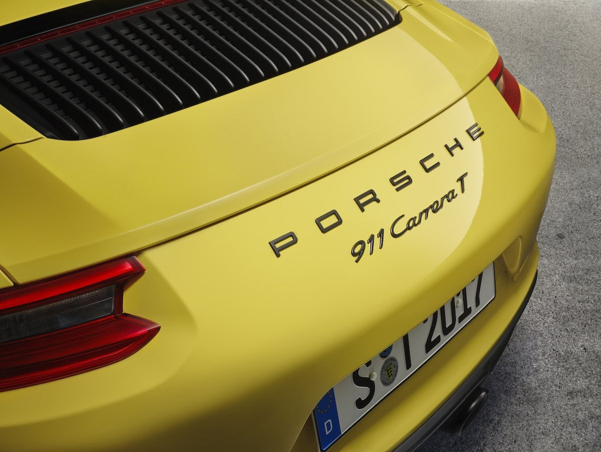 Porsche 911 Carrera T boot badge