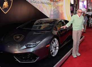 Stan Lee and the Lamborghini Huracan from Doctor Strange