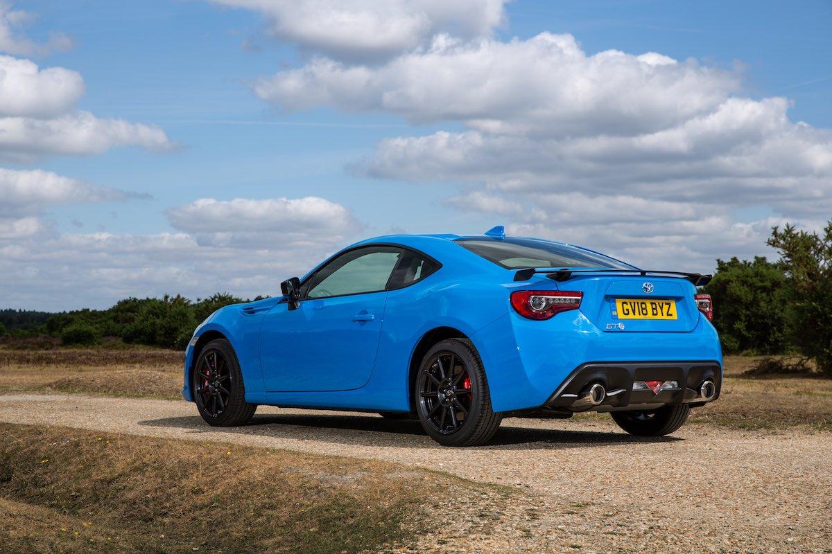 Toyota GT86 Blue Edition - static rear 3/4