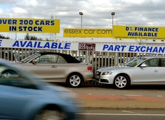 Used car yard in Essex