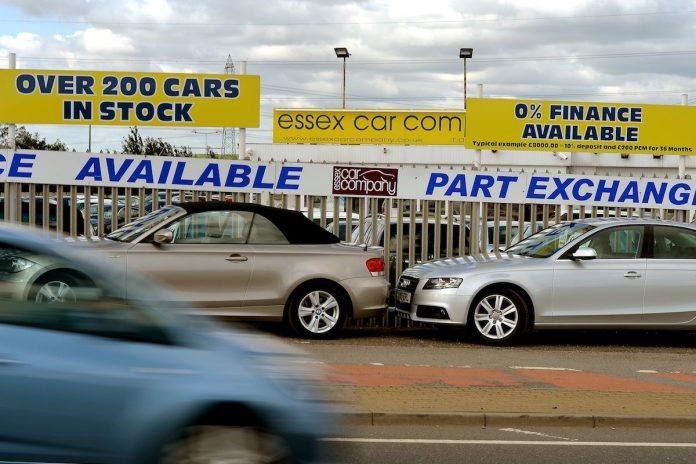 Used car yard in Essex