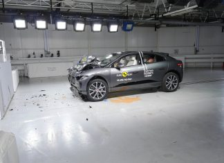 Jaguar I-Pace after Euro NCAP impact test
