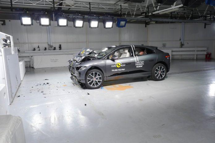 Jaguar I-Pace after Euro NCAP impact test