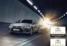 All-New Lexus ES is Europe's Safest Large Family Car and Hybrid/Electric Car in Euro NCAP's 2018 Test Ranking