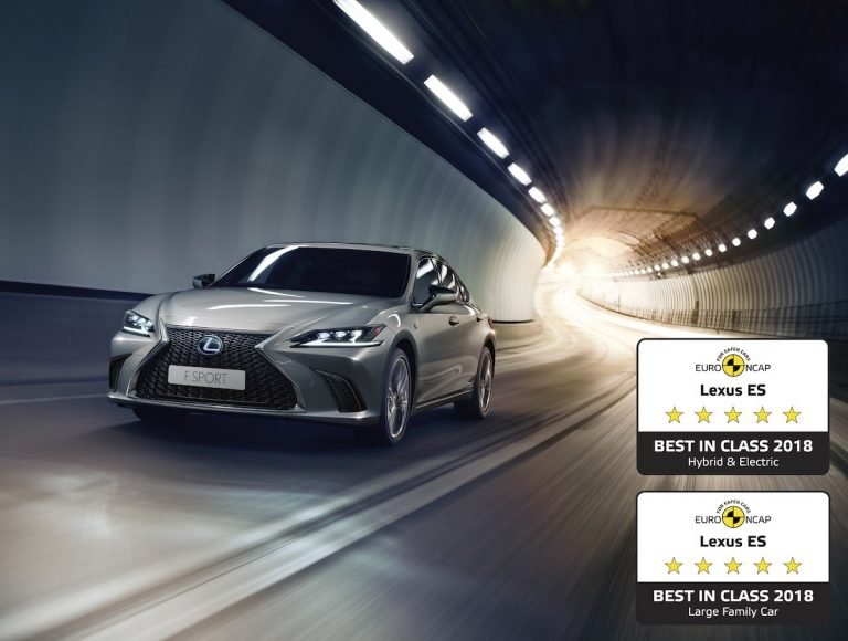 All-new Lexus ES is Europe's safest large family car and hybrid/electric car in Euro NCAP's 2018 test rankings