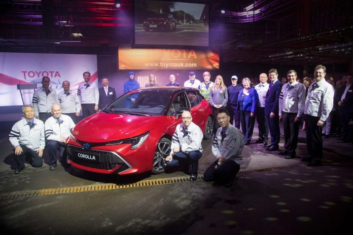 Official start of production of the new Toyota Corolla Hatchback and Touring Sports wagon