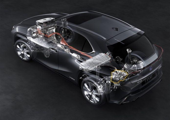 Lexus UX 250h powertrain