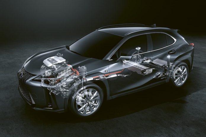 Lexus UX 250h hybrid drive system