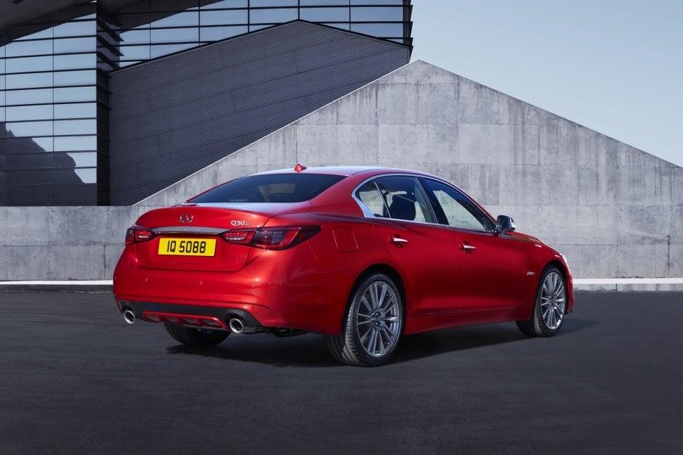 Infiniti Q50S Hybrid AWD review - rear | The Car Expert