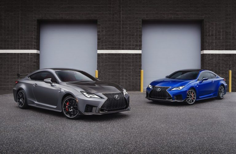 World premiere of the new Lexus RC F and RC F Track Edition at the North American International Auto Show