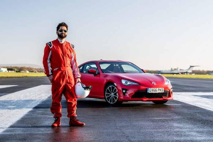 Toyota helps blind doctor achieve his track driving dream