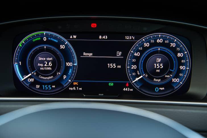 Volkswagen e-Golf gauges   The Car Expert