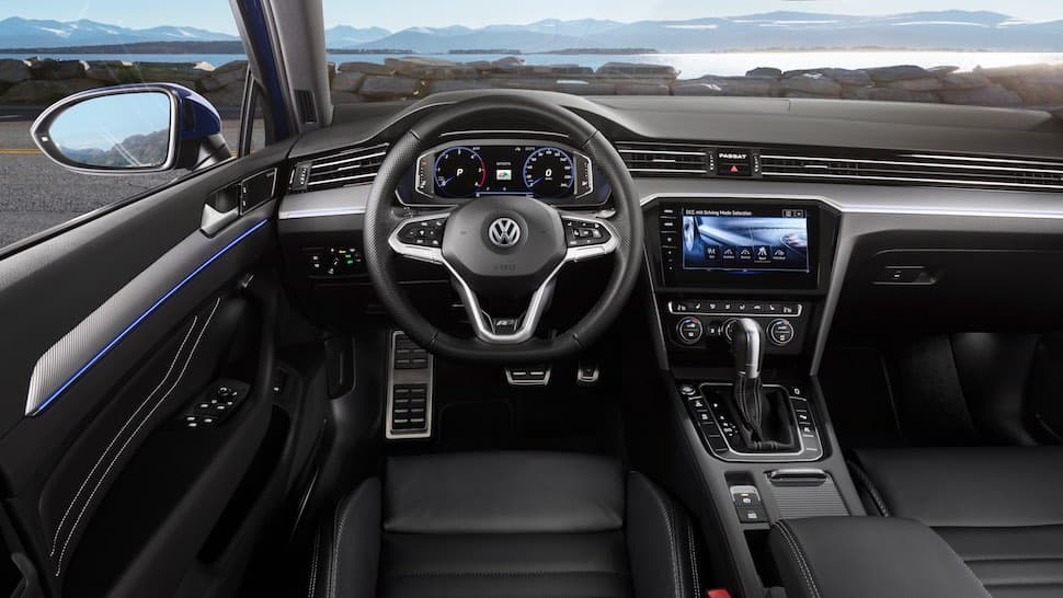 Volkswagen Passat interior, February 2019