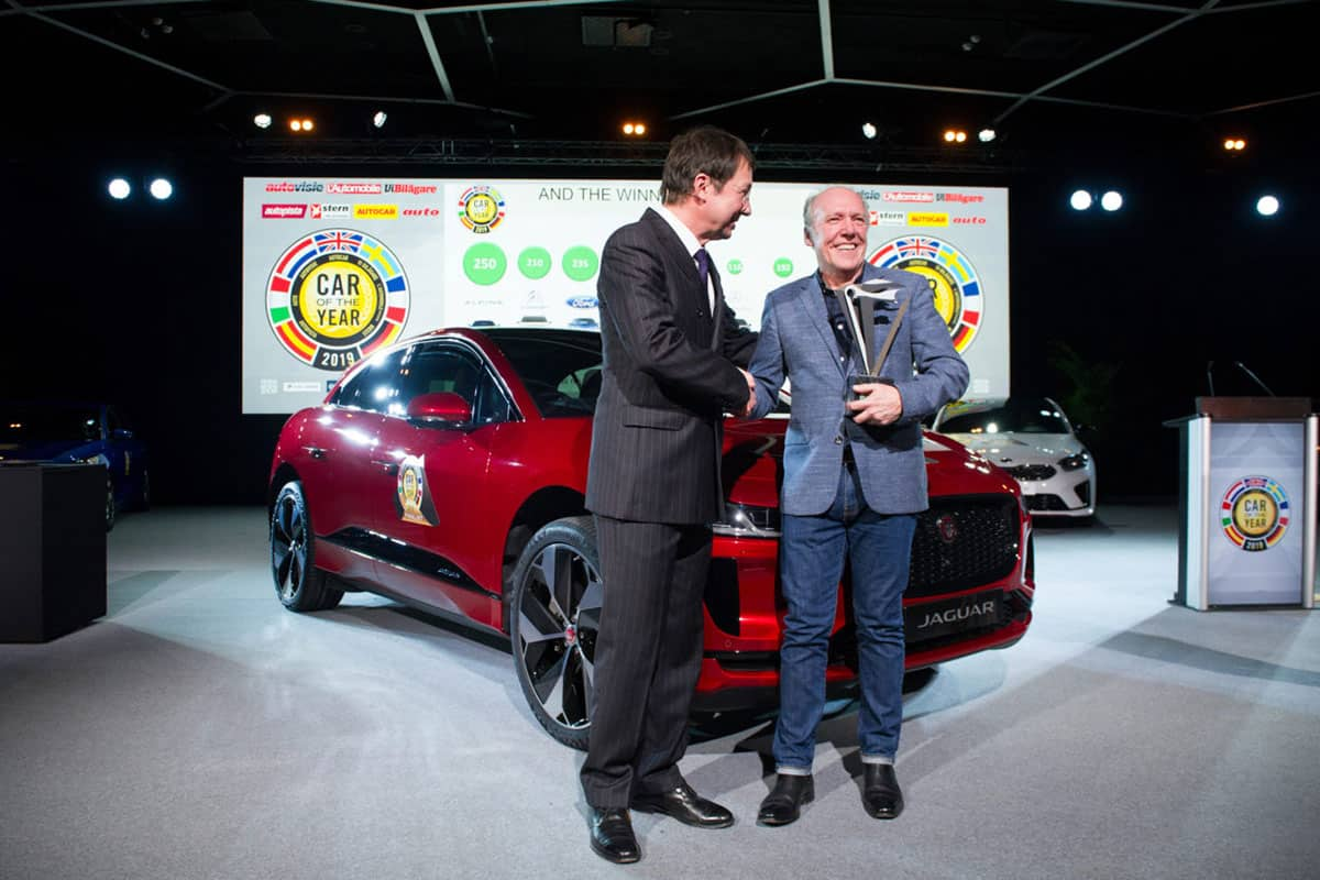 The Jaguar I-Pace has won the 2019 European Car of the Year award