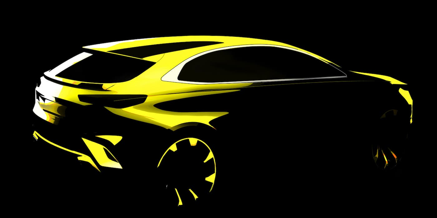 Kia Ceed crossover preview sketch | The Car Expert