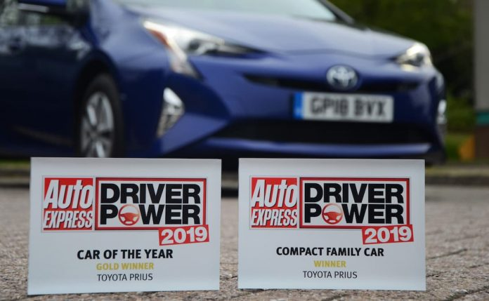 NEW CAR OF THE YEAR TITLE LEADS TRIPLE SUCCESS FOR TOYOTA PRIUS IN THE 2019 AUTO EXPRESS DRIVER POWER AWARDS