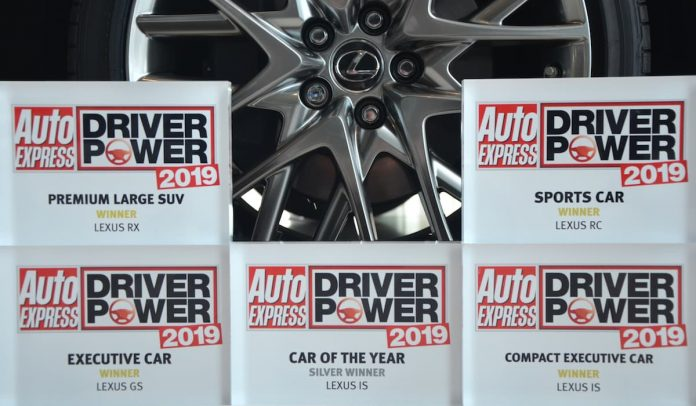 Lexus excels with seven awards in the 2019 Auto Express Driver Power Survey