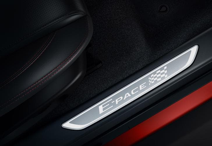 Jaguar E-Pace Chequered Flag Edition sill plate