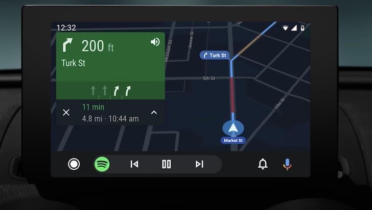 Android Auto sat nav update 2019