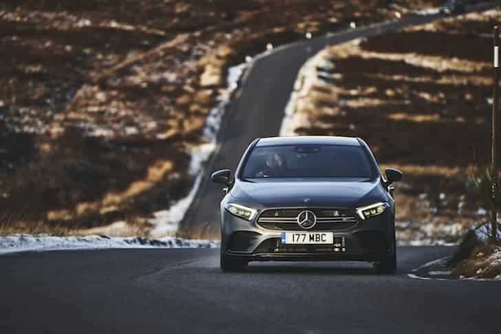 2019 Mercedes-AMG A35 road test - front  | The Car Expert