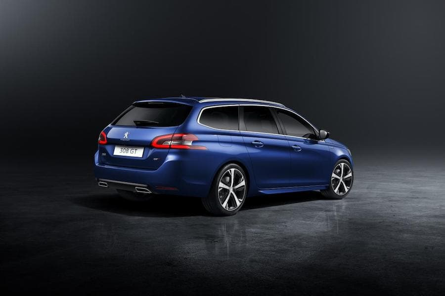 Peugeot 308 SW GT (2014 - present) rear view | The Car Expert
