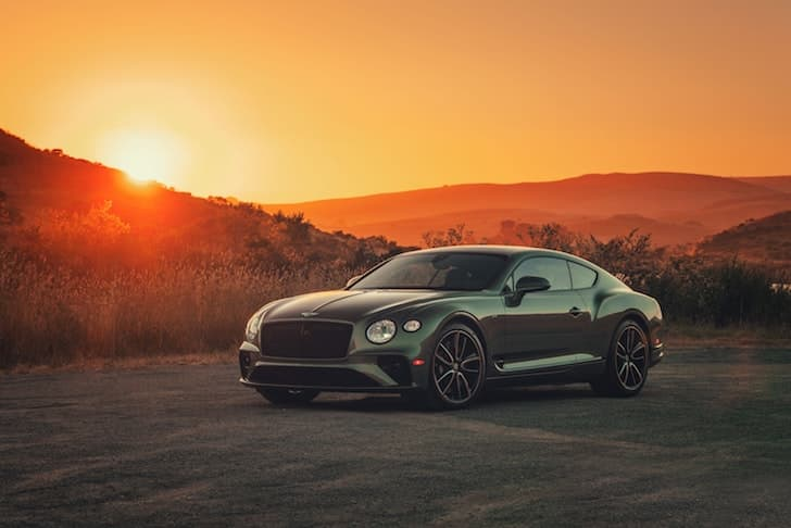 2019 Bentley Continental GT V8 coupe at sunset | The Car Expert