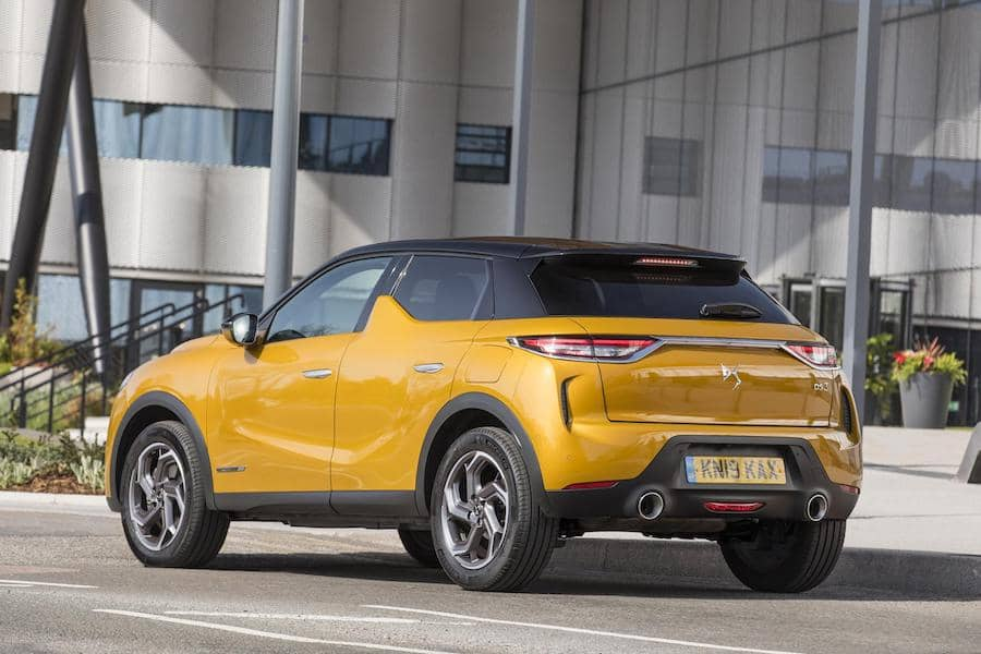DS 3 Crossback (2019) Ultra Prestige rear view | The Car Expert