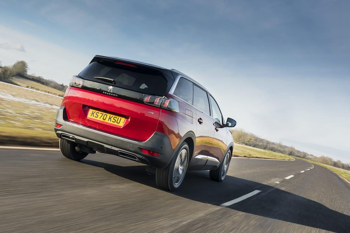 Peugeot 5008 (2021 facelift) - rear view