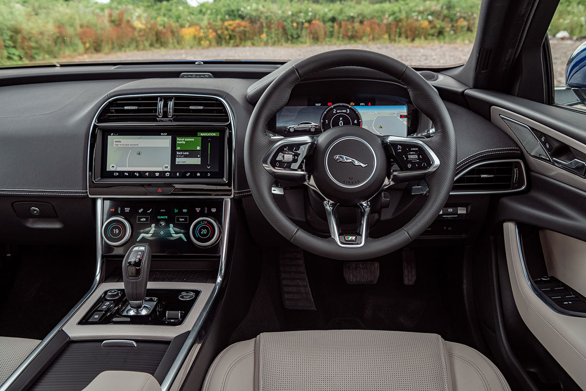 Jaguar XE 2020 dash The Car Expert