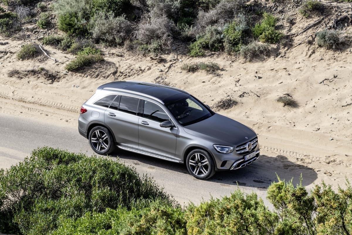 Mercedes-Benz GLC (2019) exterior overhead | The Car Expert