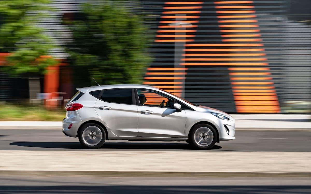 Ford Fiesta Trend side profile, July 2019