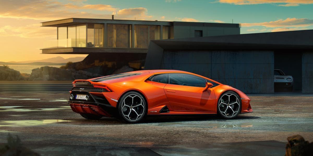 Lamborghini Huracan Evo (2019 onwards) rear view   The Car Expert