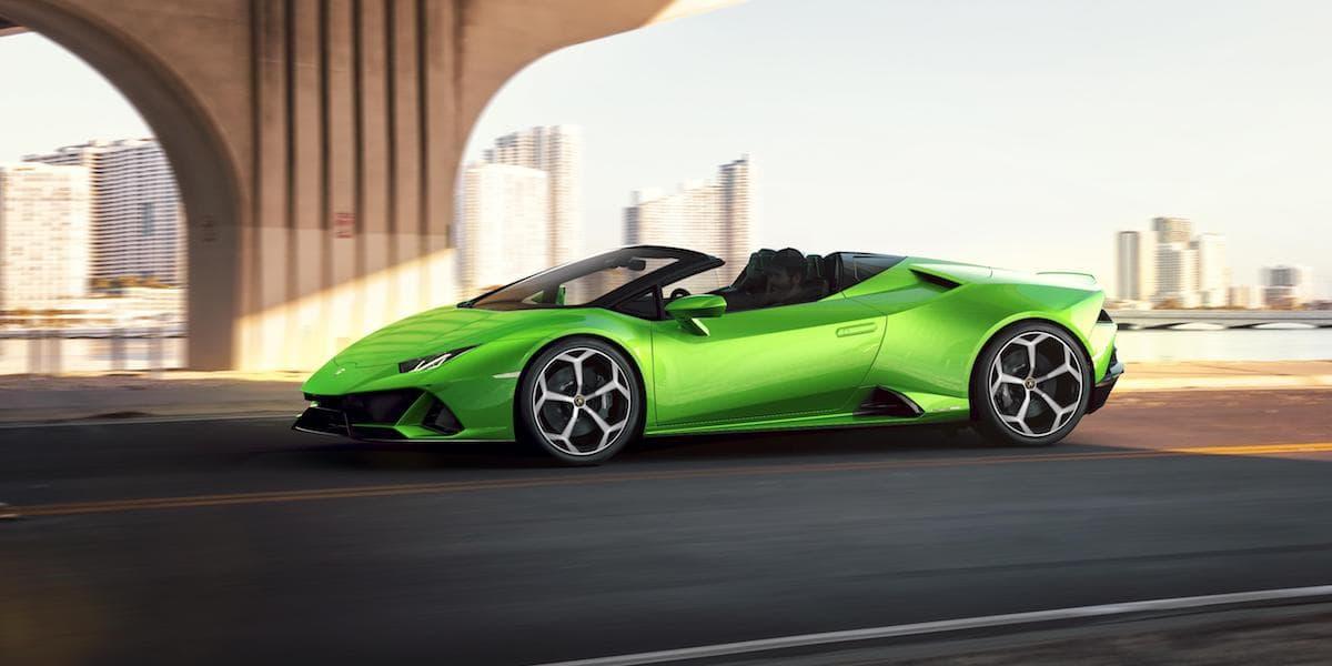 Lamborghini Huracan Evo Spyder (2019 onwards) front view   The Car Expert