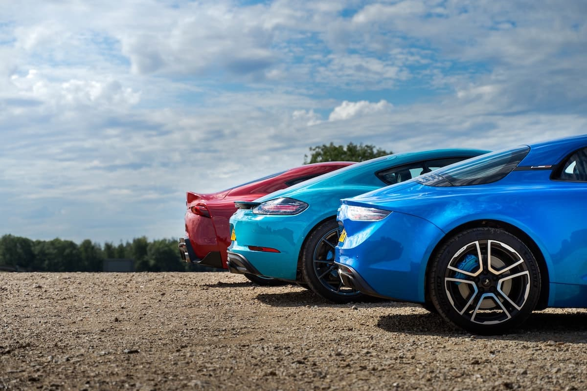 Sports car triple test - Alpine A110 vs Porsche 718 Cayman T vs Toyota GR Supra