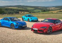 Sports car triple test: Toyota Supra vs Porsche Cayman T vs Alpine A110 | The Car Expert