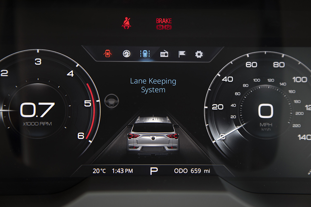 SsangYong Korando dash The Car Expert
