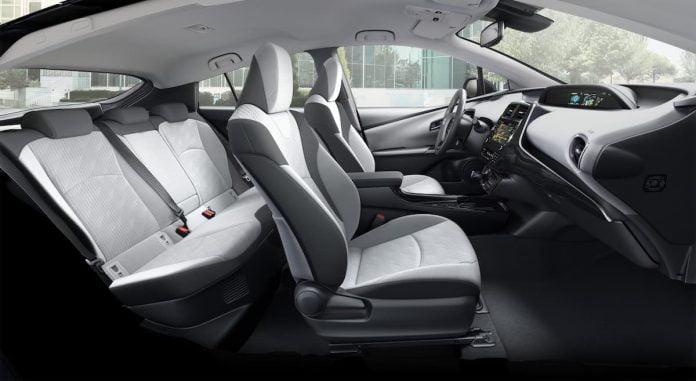 Five-seat Toyota Prius Plug-in interior