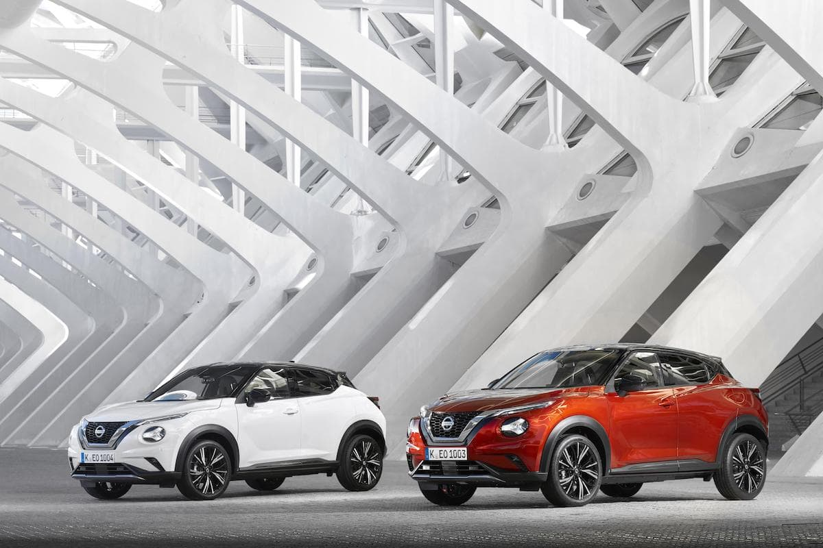 2020 Nissan Juke red and white   The Car Expert