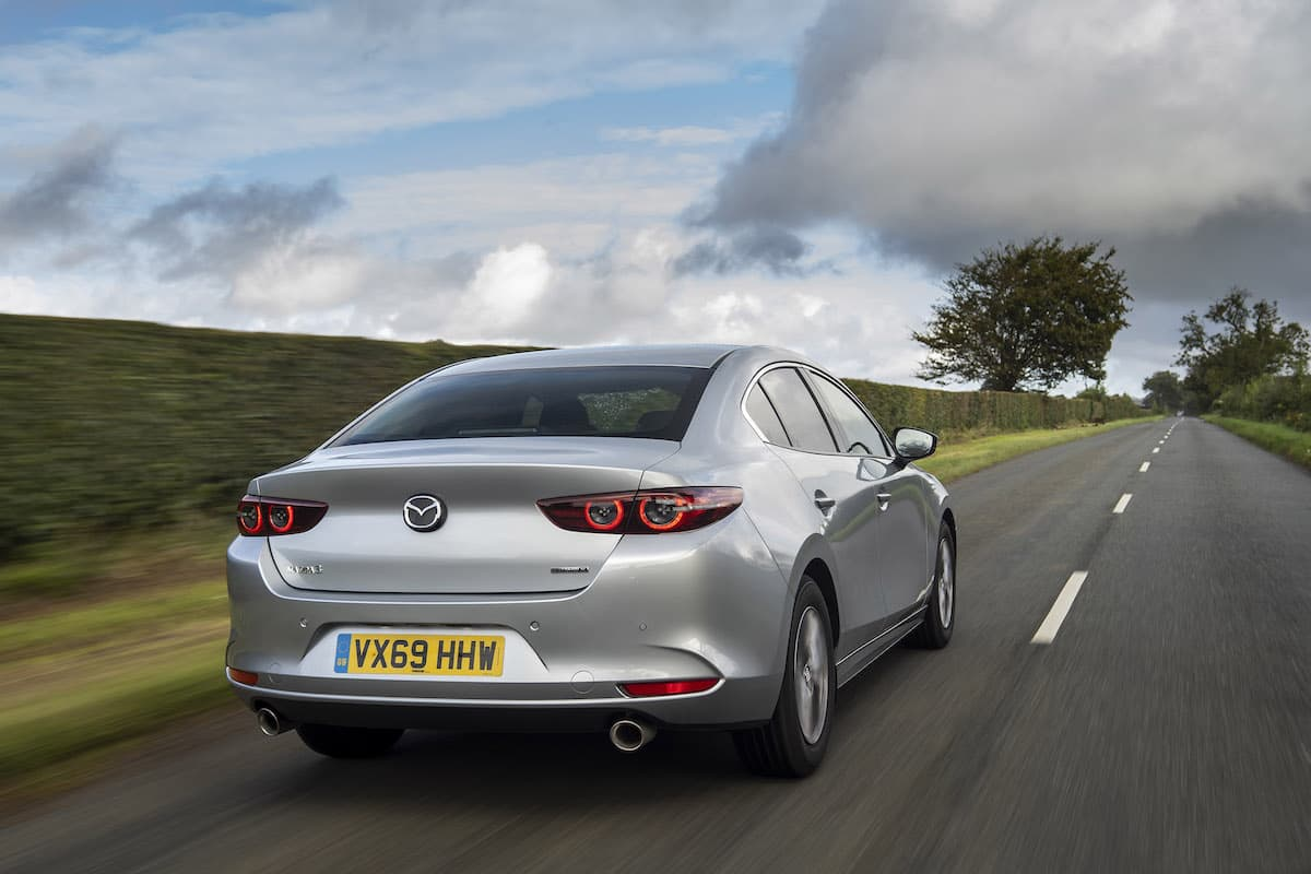 Mazda 3 saloon road test – rear view | The Car Expert
