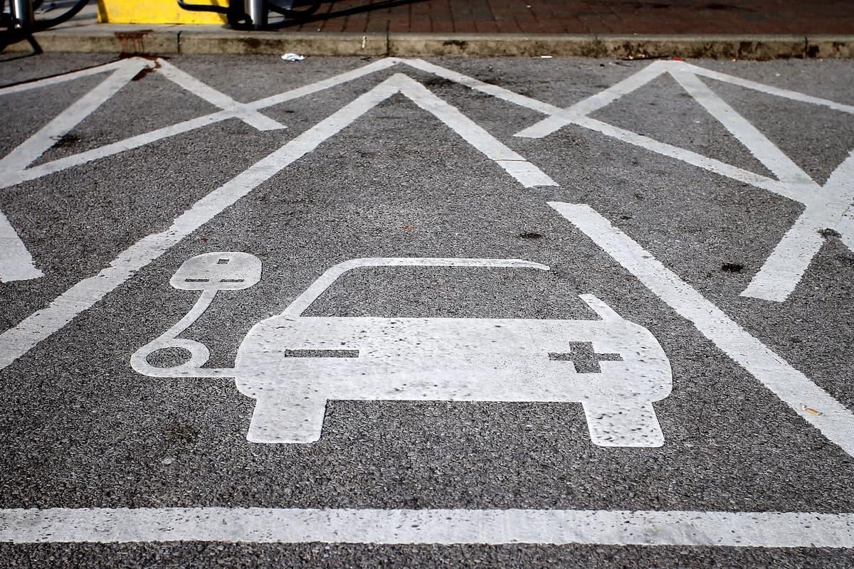 EV charging space in a car park