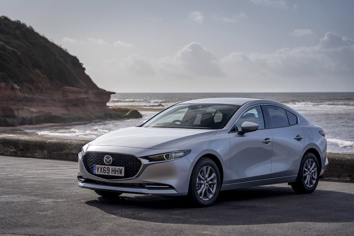 2020 Mazda 3 saloon review – front view | The Car Expert