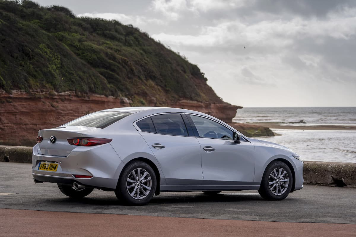 2020 Mazda 3 saloon review – rear view | The Car Expert