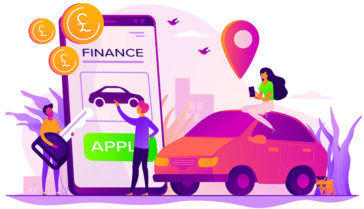 car finance header illustration