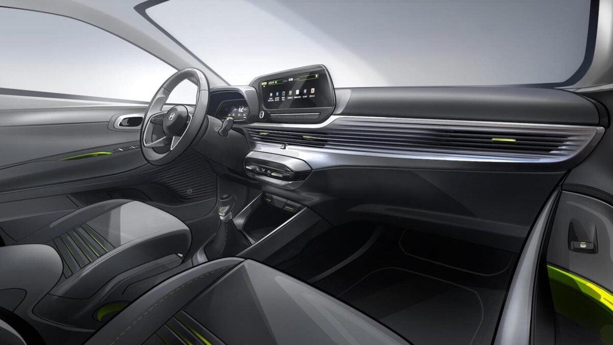 2020 Hyundai i20 - interior sketch   The Car Expert
